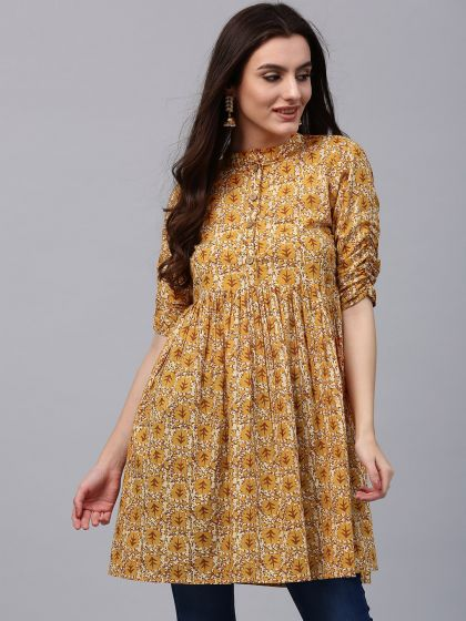 Yellow Floral Printed Tunic